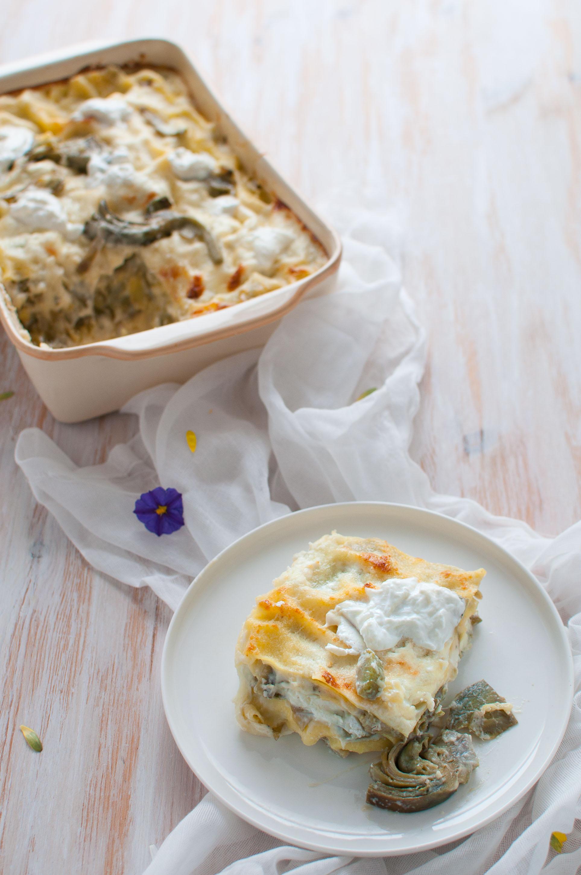 Lasagne carciofi e