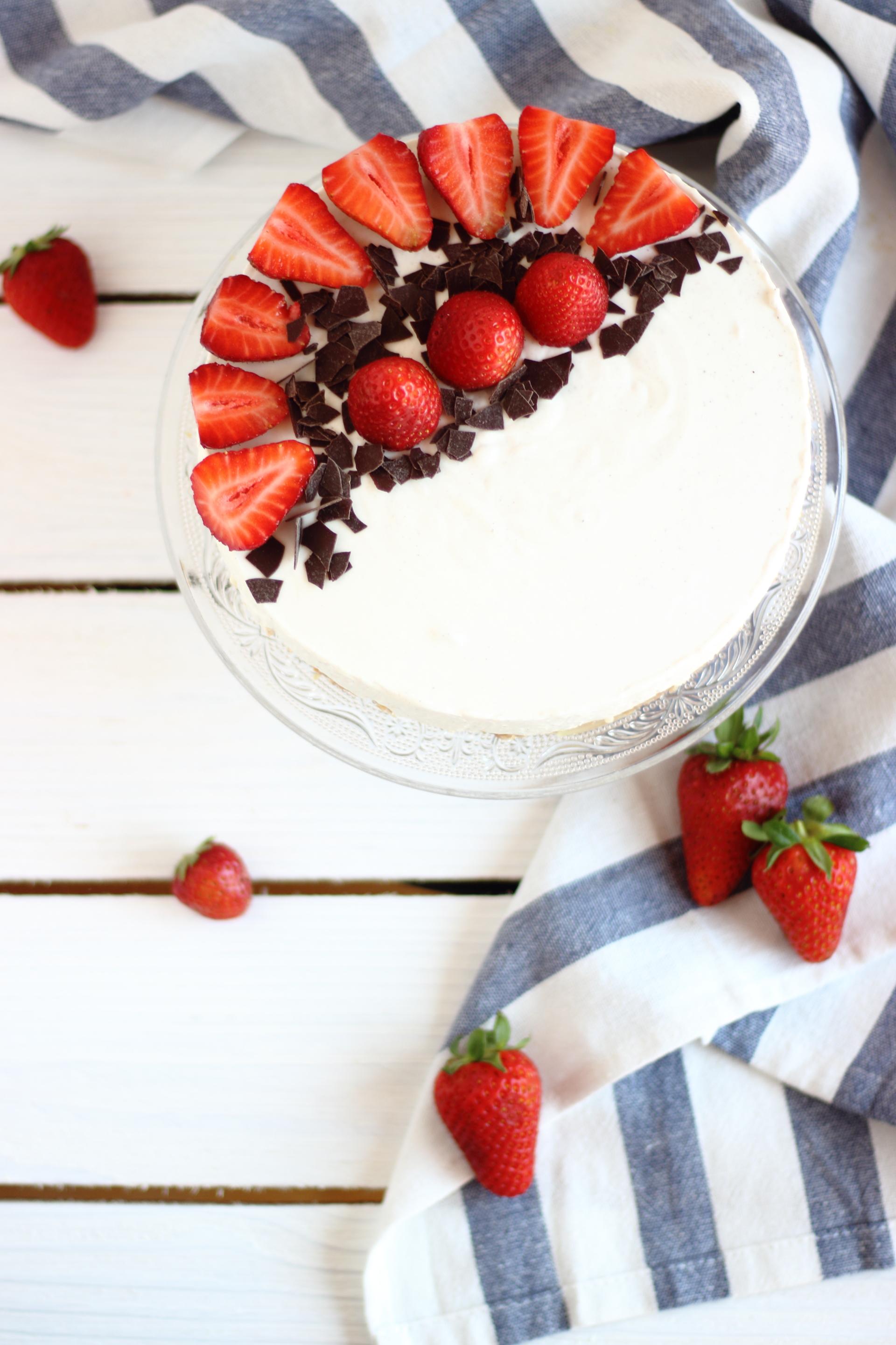 Cheesecake con yogurt greco