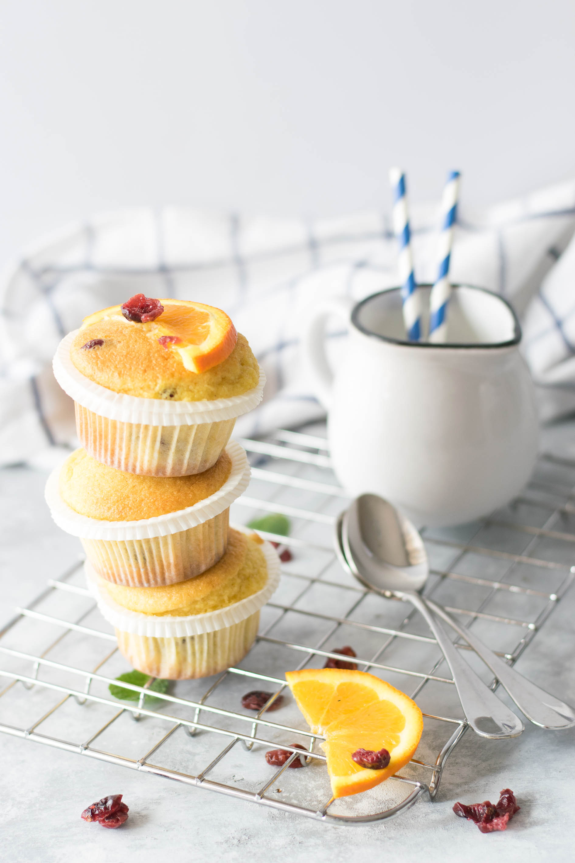 Muffin ai cranberry e arancia