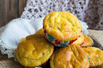 muffin salati con farina di farro e zucchine