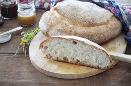 Pane casereccio con lievito madre senza glutine e senza lattosio