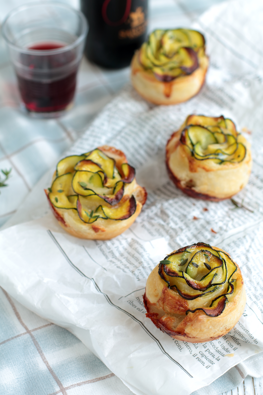 Rose di zucchine e gorgonzola