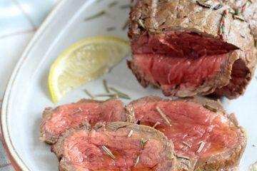 Roast beef al forno al vino rosso