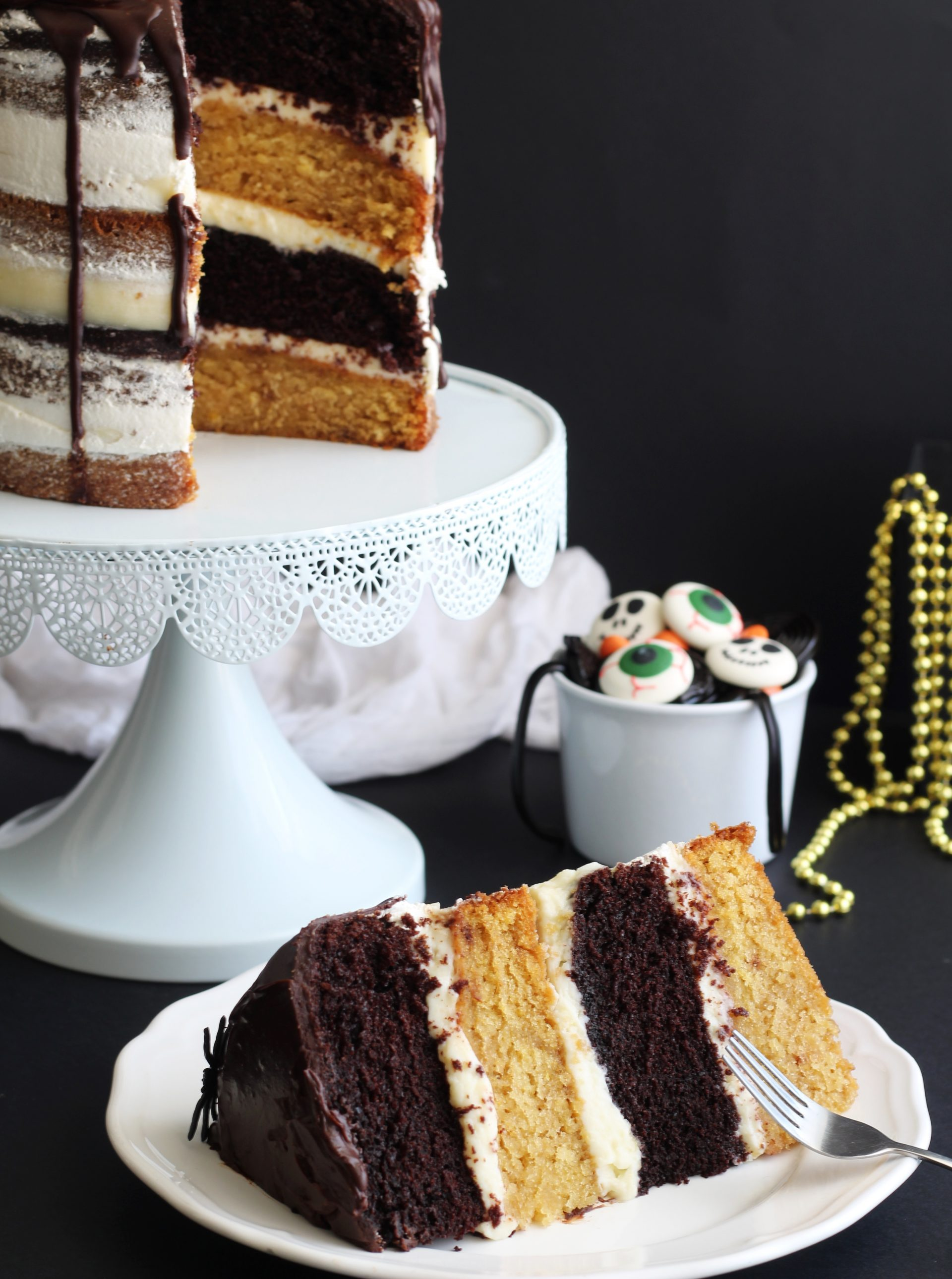 Halloween layer cake