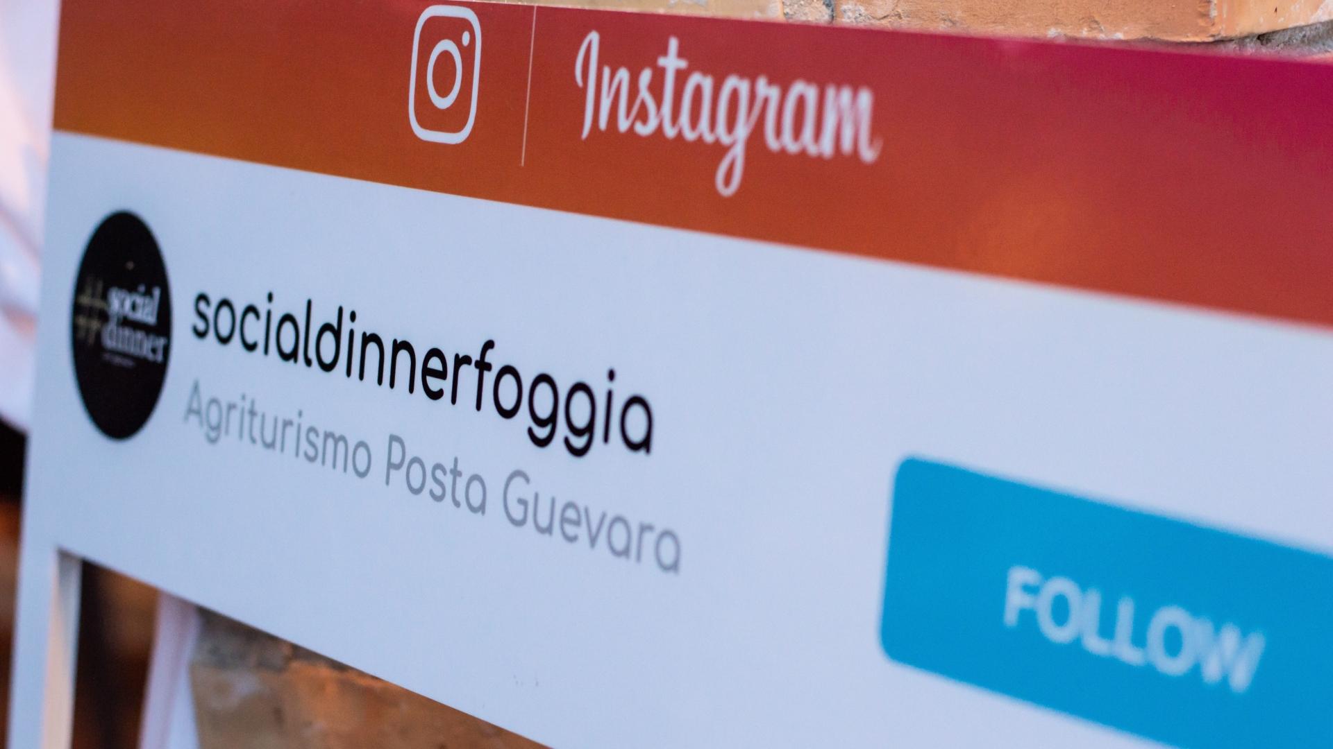 Social dinner puglia instagram