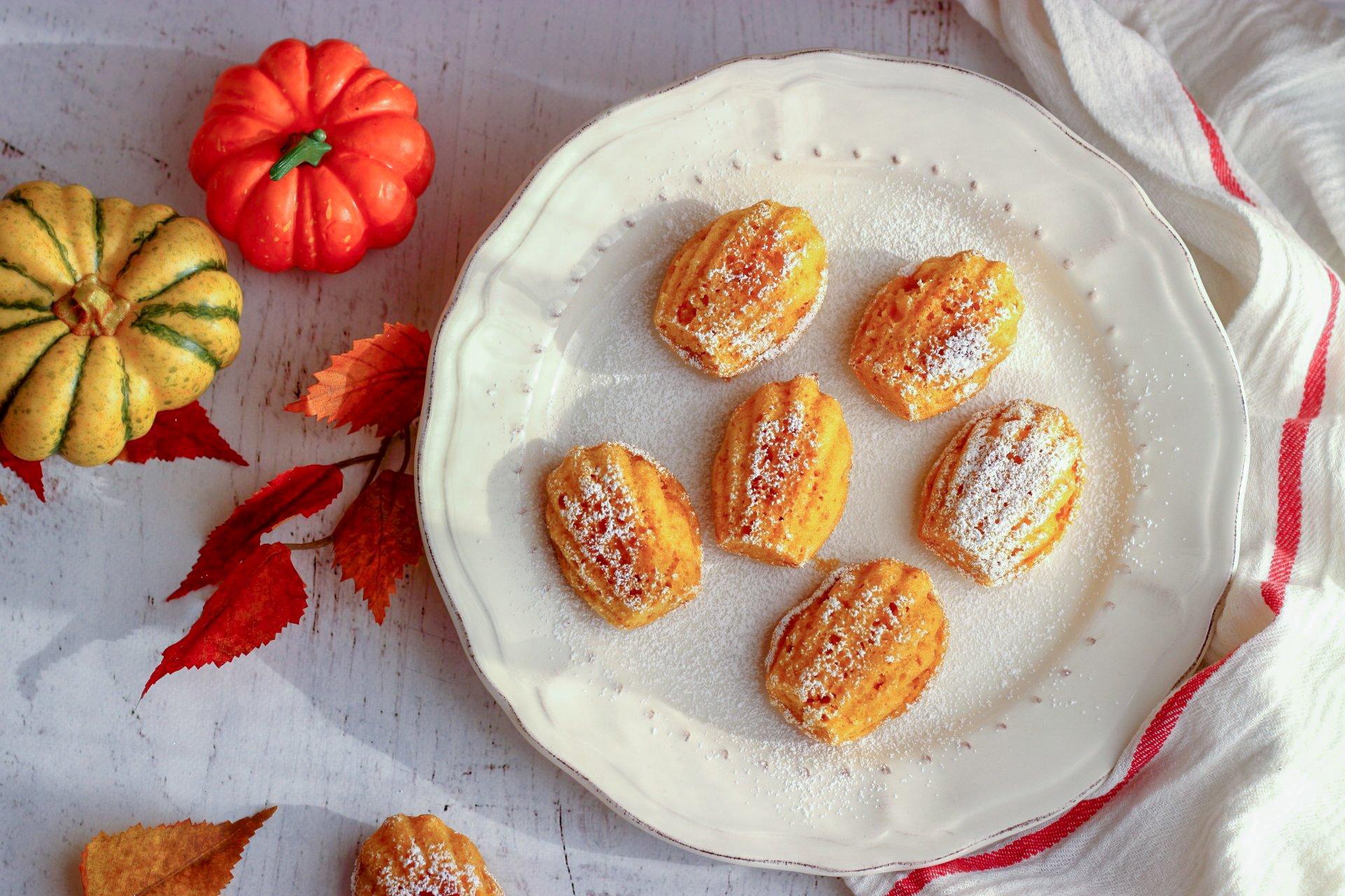 ricetta madeline alla zucca