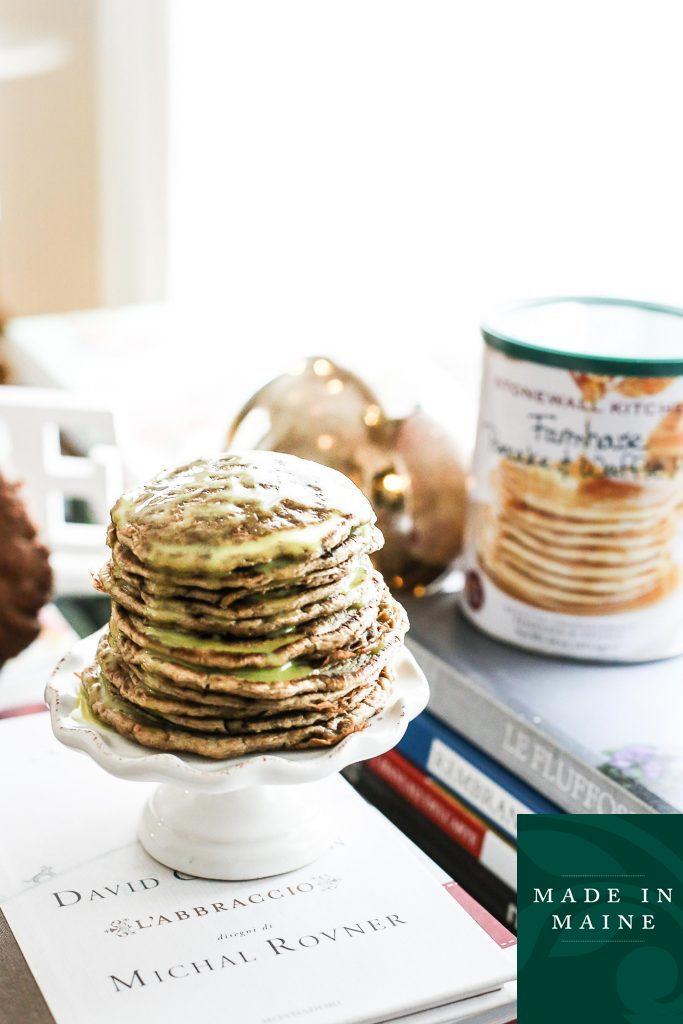 Mini matcha pancake