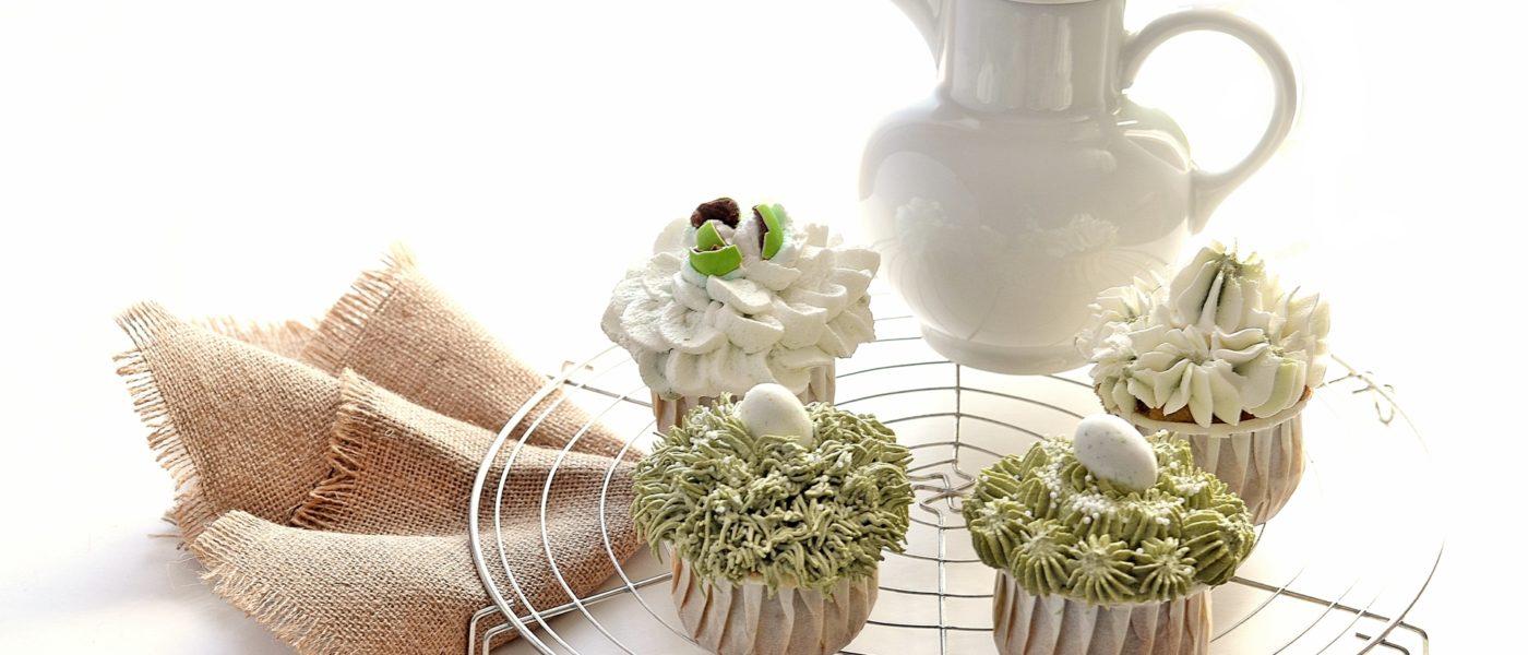 easter matcha cupcake