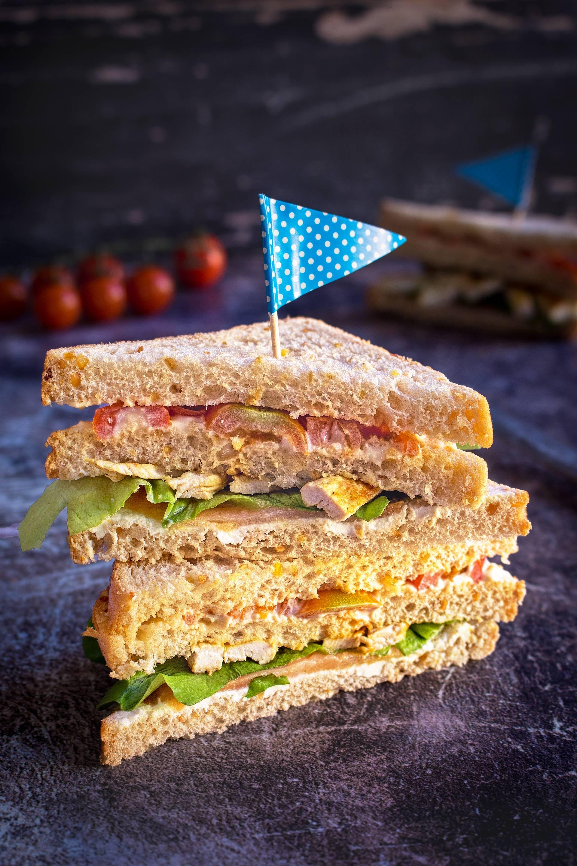 Sandwich tacchino e salmone