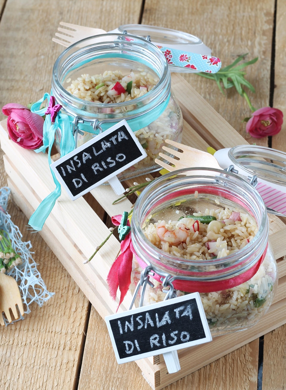 Insalata di riso integrale con gamberetti, fagiolini e pancetta - SayGood