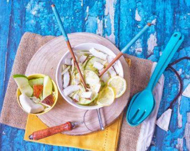 insalata di finocchio mela verde e cocco