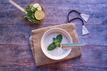 crema di cetrioli e yogurt greco